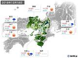 2018年12月18日の近畿地方の実況天気
