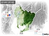 2018年12月18日の愛知県の実況天気