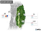 2018年12月18日の岩手県の実況天気