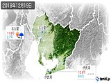 2018年12月19日の愛知県の実況天気