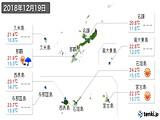 2018年12月19日の沖縄県の実況天気