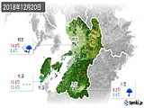 2018年12月20日の熊本県の実況天気
