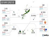 2018年12月21日の沖縄県の実況天気