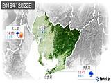 2018年12月22日の愛知県の実況天気
