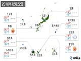 2018年12月22日の沖縄県の実況天気