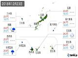 2018年12月23日の沖縄県の実況天気