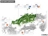 2018年12月24日の中国地方の実況天気