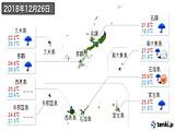 2018年12月26日の沖縄県の実況天気