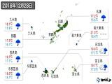 2018年12月28日の沖縄県の実況天気