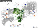 2018年12月29日の近畿地方の実況天気