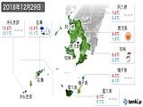 2018年12月29日の鹿児島県の実況天気