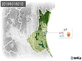 2019年01月01日の茨城県の実況天気
