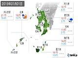 2019年01月01日の鹿児島県の実況天気