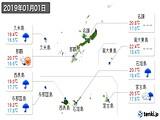 2019年01月01日の沖縄県の実況天気