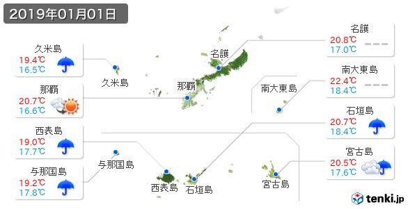 沖縄県(2019年01月01日の天気