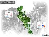 2019年01月03日の京都府の実況天気