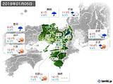 2019年01月05日の近畿地方の実況天気