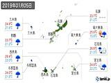 2019年01月05日の沖縄県の実況天気