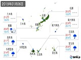 2019年01月06日の沖縄県の実況天気