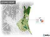 2019年01月09日の茨城県の実況天気