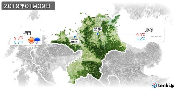 福岡県(2019年01月09日の天気