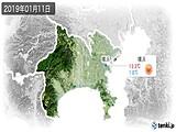 2019年01月11日の神奈川県の実況天気