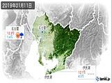 2019年01月11日の愛知県の実況天気