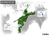 2019年01月12日の愛媛県の実況天気
