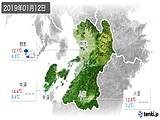 2019年01月12日の熊本県の実況天気