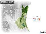 2019年01月15日の茨城県の実況天気