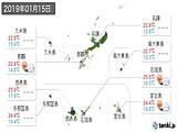 2019年01月15日の沖縄県の実況天気