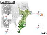 2019年01月17日の千葉県の実況天気