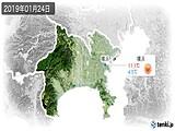 2019年01月24日の神奈川県の実況天気