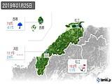 2019年01月25日の島根県の実況天気