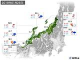 実況天気(2019年01月25日)