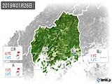 2019年01月26日の広島県の実況天気