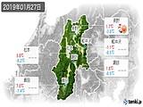 2019年01月27日の長野県の実況天気