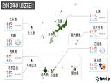 2019年01月27日の沖縄県の実況天気