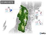 2019年01月27日の山形県の実況天気