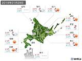 2019年01月29日の北海道地方の実況天気