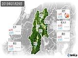 2019年01月29日の長野県の実況天気