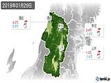2019年01月29日の山形県の実況天気