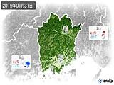 2019年01月31日の岡山県の実況天気