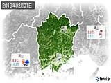 2019年02月01日の岡山県の実況天気