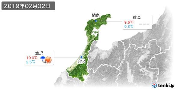 石川県(2019年02月02日の天気