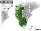 2019年02月03日の和歌山県の実況天気