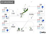 2019年02月04日の沖縄県の実況天気
