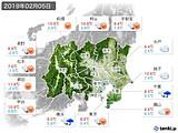 2019年02月05日の関東・甲信地方の実況天気