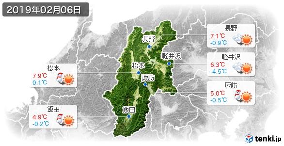 長野県(2019年02月06日の天気