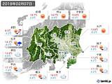 2019年02月07日の関東・甲信地方の実況天気